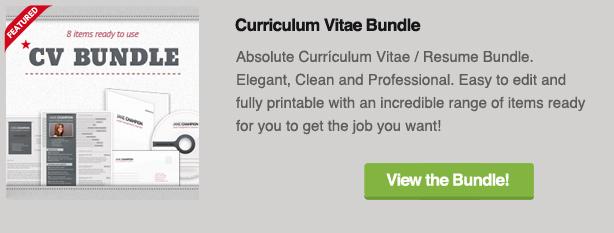 Curriculum Vitae Bundle